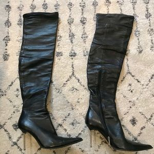 gianmarco lorenzi shoes italy over the knee boots 37 poshmark rh poshmark com